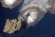 Volcanoes / A volcano is an opening, or rupture, in a planet's surface or crust, which allows hot magma, volcanic ash and gases to escape from the magma chamber below the surface. / by Catherine Manoli