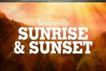 "Sunrise & Sunset / ""May every Sunrise hold more promise and every Sunset hold more peace.""  Come experience the magnificent Smoky Mountain Sunrise & Sunset!"