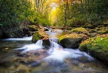 Waterfalls & Streams / Water formations in the Smoky Mountains