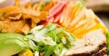 Salads / Salads, fruit, vegetables, pasta salad, chopped, food, recipes