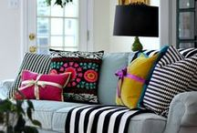 Pillows, throws, towels other home accessories / Fun, colorful pillows, blankets, and other home decor accessories #pillows