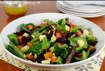 Salad Recipes / Veggie salads, fruit salads, pasta salads, any kind of salad!
