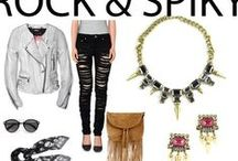 Rock and Spiky / Get ahead with spiky chunky gunmetal finish with shiny crystals. Compliment your