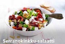 Reseptit - Salaatit / Ihanan raikkaita sekä ruokaisia Salaatteja. Reseptit helpottavat arjen ruokaostosten suunnittelua. Ohjeen vierestä löytyvät tarvittavat tuotteet, klikkaa kätevästi ostoskoriin. #kauppahalli24 #resepti