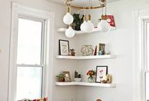 s h e l v e s / ideas for decorating a shelf or empty space. i need inspiration.