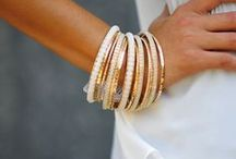 - Bracelets - / - Love the stacked look. -