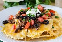- Nachos - / - Nothing like digging into a giant plate of cheesy nachos (and the works!) with your friends or family! -