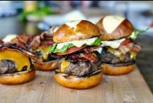 - Burgers - / - I love trying out unique recipes. You can put just about anything on a burger! -