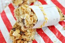 - Breakfast Bars - / Recipes for on-the-go breakfast bars. Easy to take along with you and yummy at the same time. -