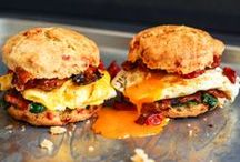 - Breakfast Sandwiches - / - Bacon, egg, & cheese biscuit is a must for me! -