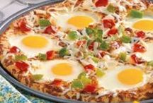- Breakfast Pizza - / - Another great breakfast/brunch option for a crowd other than a casserole. -