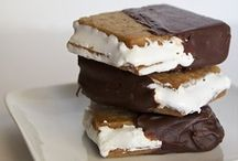- S'mores - / - Reminds me of bonfires in the Summer! So many ways of dressing them up. -