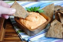 - Hummus - / - One of my favorite healthy snack options! -