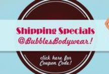 Sales & Discounts / A Pinterest place to get the skinny on our best and newest sale prices, coupon codes and clearance alerts! / by Bubbles Bodywear