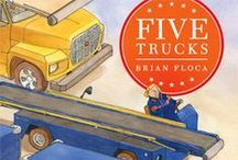 book nook: Five Trucks / for Little Wonders Preschool a lit and play based program  math: shapes science: movement & motion