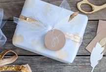 DIY Gift Wrap / DIY gift wrap ideas using Heidi Swapp products! So much fun to be had!