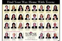 At home with Towne Realty Group, LLC / I love working in an office with local, loyal professionals who know their business and work hard for themselves, their clients and the community. My Townies. / by Karen Bigos
