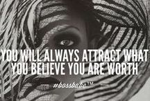 Law of Attraction / Positive thinking  ... like attracts like / by Bernadette Pinkard