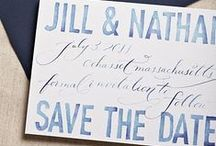 [wedding] paper / invitations, save the dates, programs / by Sam T