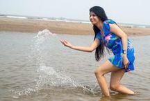 Model Ankita Parmar / Outdoor photoshoot with model Ankita Parmar on the beach