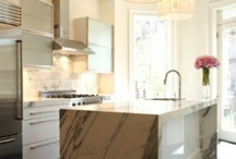Kitchen Inspiration / I am in love with white kitchens!