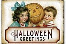 Halloween Vintage Postcards / I just love the old Halloween postcards! / by Laurie Ludes | LaurieL Photography