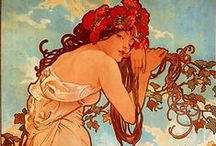 the Art of Alfons Mucha / Please avoid 'raping' this board. Try to adhere to Pintetest etiquette and limit your pins. This board, more than any other, has people taking total advantage of all my hard work, sometimes pinning 100 - 200 pins from it. That is so incredibly rude. I do Block abusers.  Alfons Maria Mucha, often known in English and French as Alphonse Mucha, was a Czech Art Nouveau painter and decorative artist, known best for his distinct style. Born: July 24, 1860 ~ Died: July 14, 1939 Period: Art Nouveau. / by Laurie Ludes | LaurieL Photography