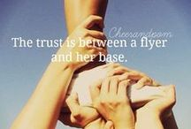 Words to Live By and Cheerleading Motivation / The best motivational quotes to help inspire you and stay driven to be the best cheerleader and athlete you can be.