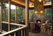 home - outdoors: home exteriors, decks, pools, showers, spas, gates, porches, firepits, furniture, yard art, play areas, tree houses / by Paula Bell