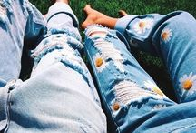 """Denim for Days / """"Blue Jeans are the most beautiful thing since the Gondola."""" - Diana Vreeland"""