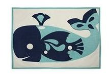 Kitchen and Table Linens With Coastal Designs / Kitchen and table linens with various sealife and nautical designs