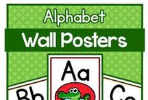 Kindergarten Wall Posters / wall posters for teachers