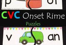 Kindergarten CVC Word Families