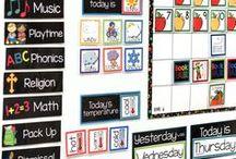 Calendar Wall / Calendar walls for children and teachers