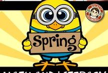 April Activities for Kindergarten / Teaching activities,centers, songs, and poems for Easter, rain, and the month of April!