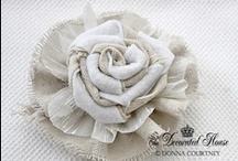 FLOWERS, RIBBONS & TASSELS: PAPER, CLOTH ETC / Flowers and ribbons - cloth, paper etc