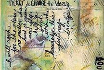 ART JOURNALING IDEAS # 1 / Art journal inspiration.