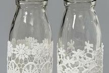 JAR / GLASS BOTTLE ART / Beautiful ideas for jars and bottles  etc