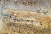 ART JOURNALING - FABRIC / Art journaling with fabric.