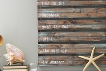 Wood Pallet Projects / by Myra