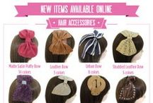 Hair Accessories / Some of our favorite hair covering accessories including hair clips, headbands, and turbans!