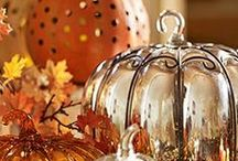 Holidays & Seasons- All Things Autumn / Pumpkin, Cinnamon, Nutmeg, Orange, Rust, Mustard...the loveliness of Fall!