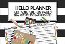 Organization and Planning Printables / Custom Made free and paid  printables for everything from small business planning and organization to personal planning and organization created by The 3AM Teacher Designs   Original illustrations by Michelle Tsivgadellis