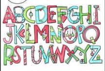 Alphabet Clip Art / The 3AM Teacher Clip Art original illustrations by Michelle Tsivgadellis. Custom, hand-drawn clip art for teachers, crafters and TPT sellers.  Commercial use okay {restrictions apply}. Visit my complete terms of use on my website by clicking the link here:  http://www.3amteacher.com/clipart-terms-of-use.html     Thank you for visiting!