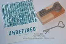 Undefined / Rubber stamps hand carved with Stampin' Up!'s Undefined stamp carving kit - and projects made with them.  / by Amy Rich