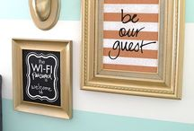 For the Home: Be Our Guest / Guest room and bathroom stuff / by Bekah Freeman