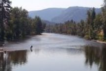 Kettle River / The Kettle River in Ferry County, WA.