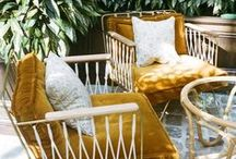 Outdoor Spaces / Bohemian outdoor spaces, patios, porches, gardens and fire pits.