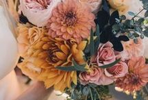 Wedding Bouquets & Floral Centerpieces / Beautiful bouquets, centerpieces and more for a bohemian wedding.