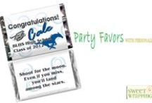 Party Favors with Personality / Hershey's miniatures with custom personalized candy wrappers give your party personality! Any Design ~ Any Event.